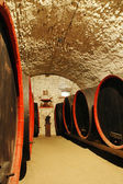 Barrels in a wine-cellar. Transylvania, Romania — 图库照片
