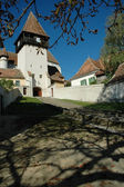 Bazna fortified church in Romania — Stock Photo