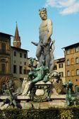 Fontana del nettuno nära palazzo vecchio, Florens, Italien — Stockfoto