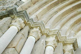 Romanesque architectural details. — Stock Photo