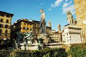 Fontana del Nettuno near Palazzo Vecchio, Florence, Italy — Stock Photo