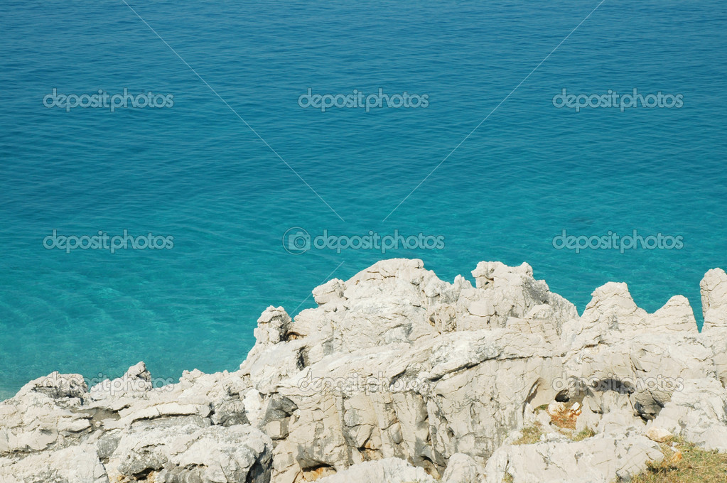 Rocky beach in Albania  — Stock Photo #8341359