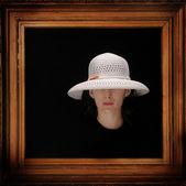 Portrait of a woman with hat — Foto de Stock