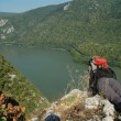 Danube river and Cazanele gorge, Romania — Stock Photo
