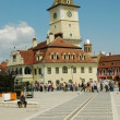 Stock Photo: Council square in Brasov, Transylvania, Romania