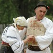 A group of dancers in traditional clothes in Romania — Stock Photo #8411866