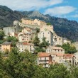 Stock Photo: The citadel and the city of Corte in Corsica