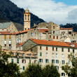 The citadel and the city of Corte in Corsica — Foto Stock
