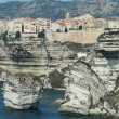 Bonifacio old town on sea cliff, Corsica, France — Stock Photo