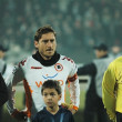 Soccer game beginning, AS Roma - CFR Cluj — Foto de Stock