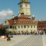 The council square in Brasov, Transylvania, Romania — Stock Photo