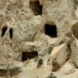 Stock Photo: Ancient cave-town near Goreme, Cappadocia, Turkey