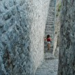 Old stone stairway in the fortress of Bar. Stari Bar. Montenegro — Stock Photo