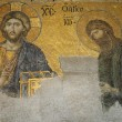 Byzantine Mosaic in Hagia Sophia, Istanbul — Stock Photo