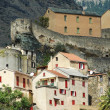 The citadel and the city of Corte in Corsica — Stock Photo