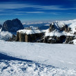 Ski resort in the Dolomities, Dolomiti - Italy in wintertime — Stockfoto