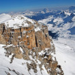 Ski resort in the Dolomities, Dolomiti - Italy in wintertime — 图库照片