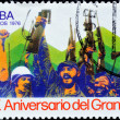 A stamp with Fidel Catro and Che Guevara — Stock Photo