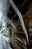 Icicles on a roof — Photo