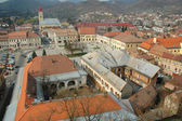Aerial view of Baia Mare city, Romania. View from the city tower — Stock Photo
