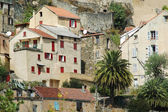 De citadel en de stad van corte in corsica — Stockfoto