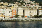 Bastia, view of the port and the town. Corsica, France — Stock Photo