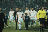 Soccer game beginning, AS Roma - CFR Cluj — Stock Photo