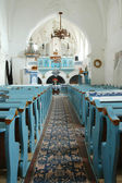 Hungarian protestant church interior at Darjiu (Szekelyderzs). — Stock Photo