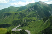 Georgian Military Highway, Caucasus, border between Georgia and Russia — Stock Photo