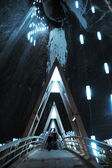 Turda underground salt mine, Transylvania, Romania — Stock Photo