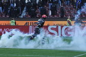Incidentes durante uma partida de futebol — Foto Stock