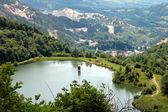 Mina de oro de cielo abierto, rumania — Foto de Stock