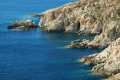 Costa rocosa en córcega, francia — Foto de Stock