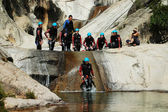 Extreme canyoning — Stock Photo