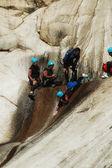 Extreme canyoning — Stock Photo