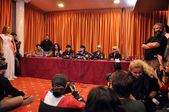 Scorpions rock band press conference — Stock Photo