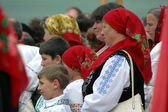 Hungarian pilgrims — Stock Photo