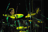 Drummer perform live — Stock Photo