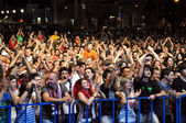 Public audience at a concert — Stock Photo