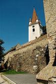 Befäst kyrka av cristian, sibiu, rumänien — Stockfoto