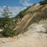 altın madeni açık kuyu kazı, rosia montana, Romanya — Stok fotoğraf