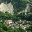 Mining town, Rosia Montana, Romania - Stock Photo