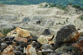 Gold mine open pit excavation, Rosia Montana, Romania — Stock Photo