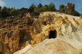 Gold mine entrance, Romania — Stock Photo