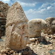 Monumental god heads on mount Nemrut, Turkey - Stock Photo