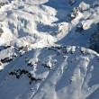 Dolomiti mountains at winter, ski resort in Italy — Stock Photo