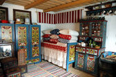Traditional hungarian house interior in Transylvania, Romania — Stock fotografie