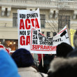 Protesting against ACTA - Stock Photo