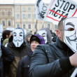 Protesting against ACTA — Stock Photo