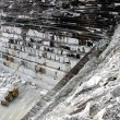Stock Photo: Quarry of white marble, Ruschita, Romania